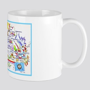 Virginia Map Greetings Mug
